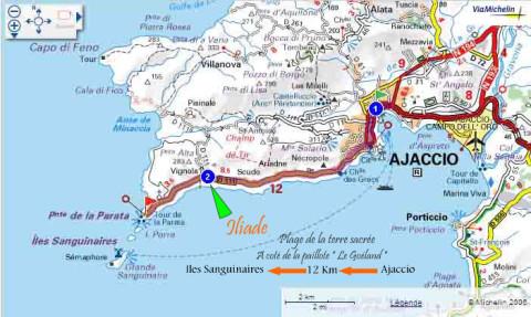 Carte Corse Ajaccio.Location Kayaks Et Bateaux Sans Permis Corse Ajaccio Sanguinaires